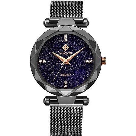 Relógio Feminino Wwoor Cristal