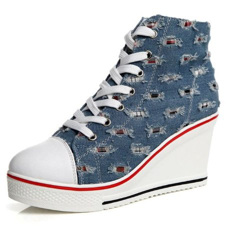 Tênis Feminino Botinha All Super Star Jeans