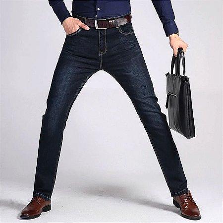 Calça Jeans Masculina Slim Premium Confort - Preta