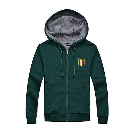 Jaqueta em Moletom com Capuz - Itália