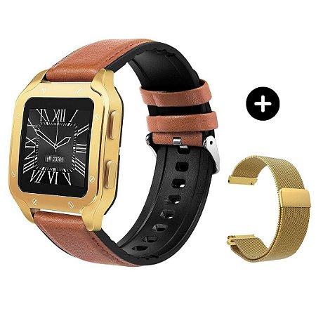 Relógio Eletrônico Smartwatch Land 2 - Dourado + Brinde