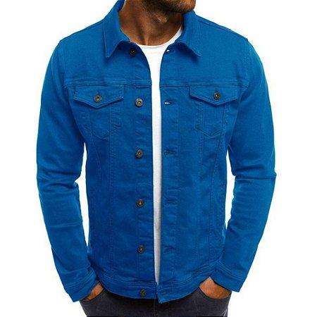 Jaqueta Jeans Masculina Tradicional - Azul Royal