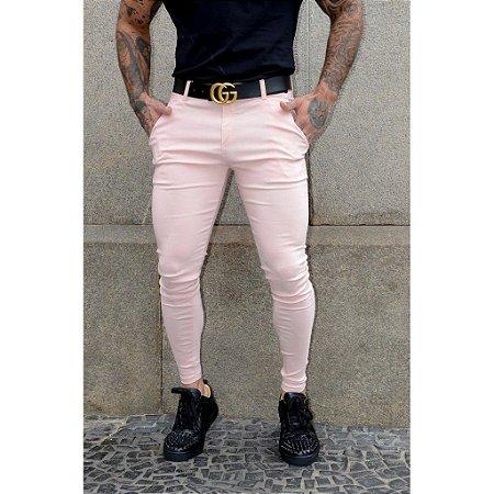 Calça Jogger Masculina Rosa Alfaiataria