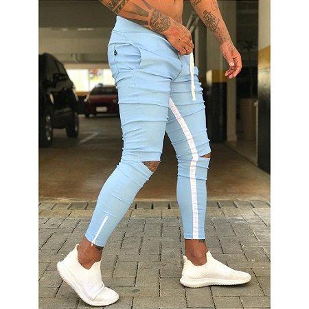 Calça Jogger Masculina Azul Alfaiataria