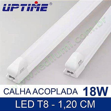 Lâmpada Tubular De Led Calha Acoplada 18w 120cm