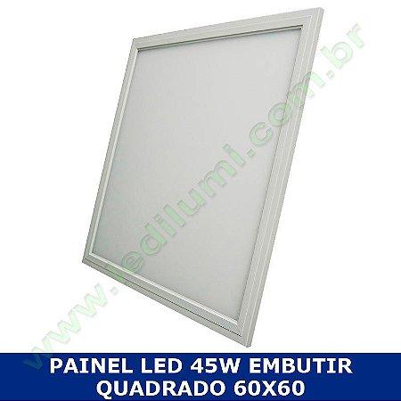Painel Led 60x60 48 watts Ultra Slim de Embutir Quadrado - LedIlumi