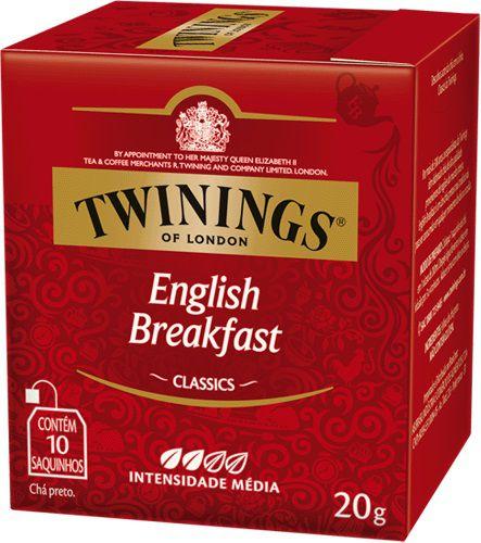 Chá Twinings English Breakfast 10 sachês