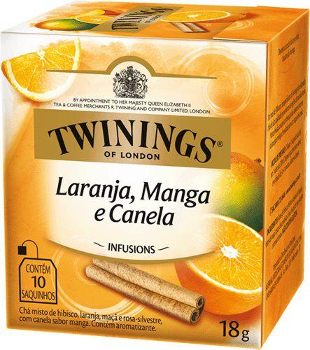 Twinings of London chá Laranja, Manga e Canela caixa com 10 sachês