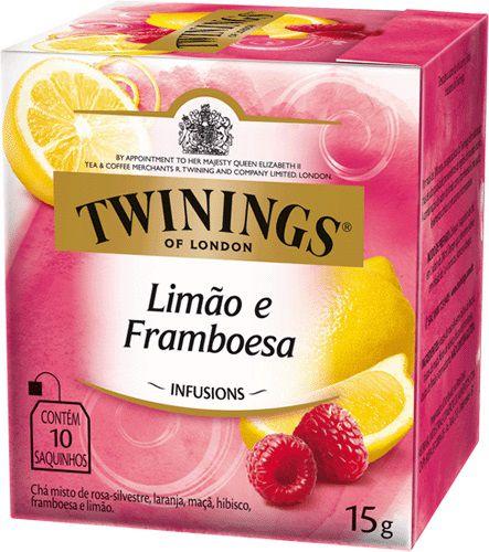 Twinings of London chá Limão e Framboesa caixa com 10 sachês