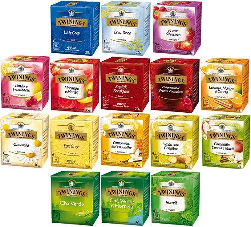 Chá Twinings kit completo 160 sachês