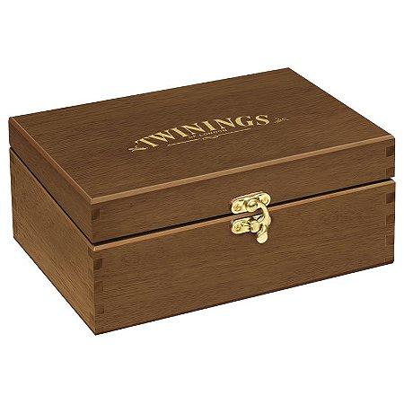 Twinings of London caixa de madeira para chás cor vazia com 6 divisões