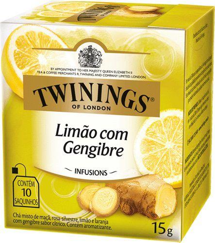 Twinings of London chá Limão com Gengibre caixa com 10 sachês
