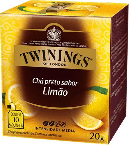 Twinings of London chá preto Limão caixa com 10 sachês