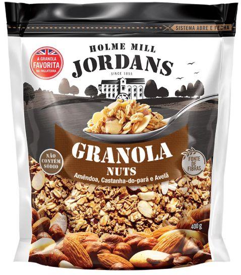 Granola Cereal Jordans Nuts, Amêndoa, Castanha-do-Pará Avelã 400g