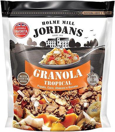 Granola Cereal Jordans Tropical - Papaia, Coco, Abacaxi e Banana 400g