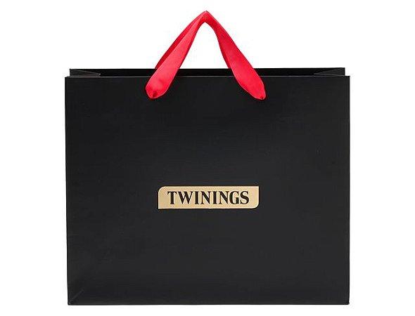 Twinings sacola para presente com fita vermelha