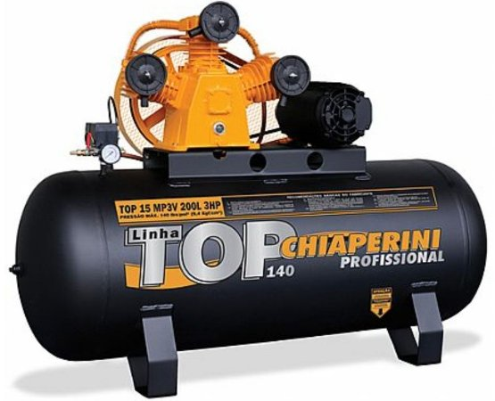 Compressor TOP 15 MP3V 200 Litros Motor 3 HP Trifásico