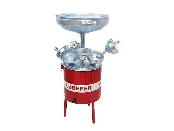 Pingadeira de óleo capacidade 25 litros com 6 funis Lubefer