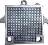 Placa Separadora de Alumínio para Filtro Prensa - 9 X 9 com 2 Furos