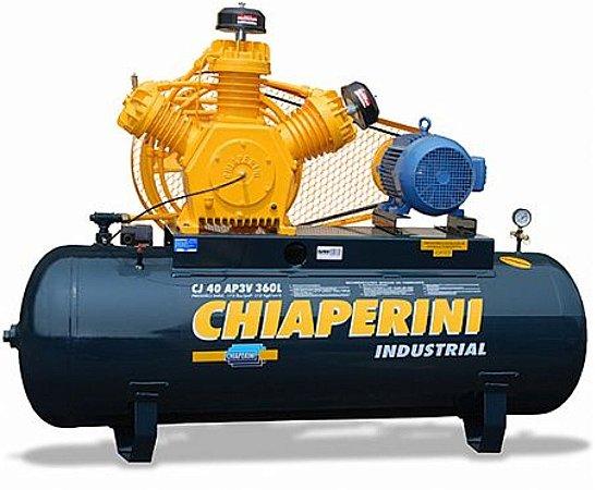 Compressor de Ar industrial Motor Blindado 40 AP3V 360 Litros Trifásico - TOP