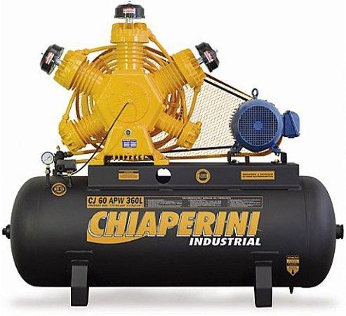 Compressor de Ar Industrial Motor Blindado 60 pés 360 Litros - trifásico