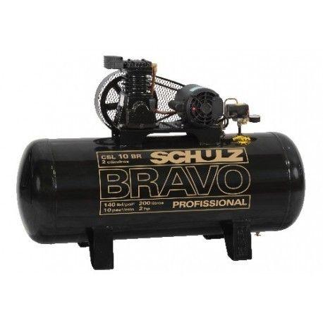 Compressor de Ar Profissional Schulz 2 HP 200 litros - Trifásico