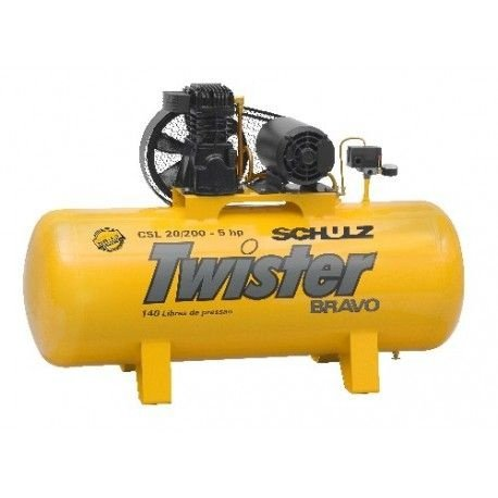 Compressor twister schulz 5HP 200L - Trifásico