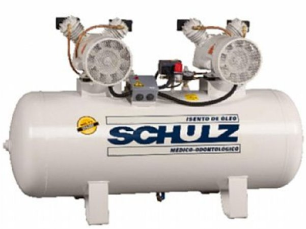 Compressor de Ar Odontológico schulz 2x1 HP -200L - Monofásico