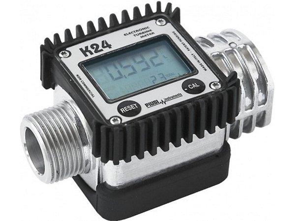Medidor Digital De Linha Em Acetal Para Combustiveis - 1Pol - 120Lpm