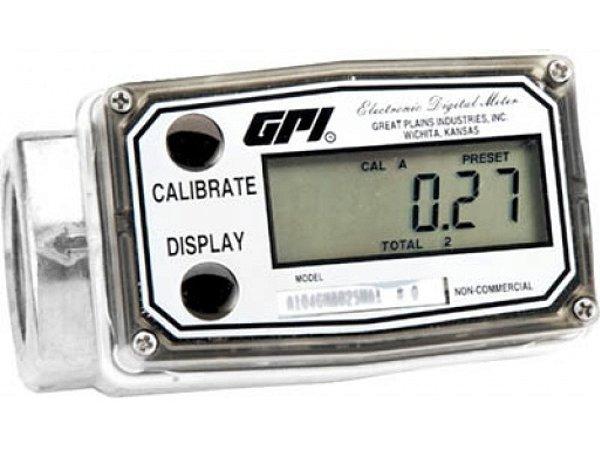 Medidor Digital Em Aluminio Para Etanol E Metanol - 1Pol - 190Lpm - Bateria de Lithiun