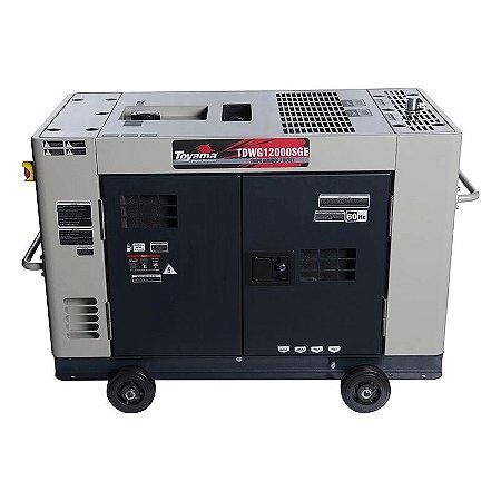 Gerador de Energia Cabinado 12,5 kVA à Diesel 220V Trifásico - TOYAMA