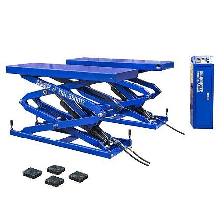 Elevador Automotivo Hidráulico Pantográfico 3500 Kg Monofásico 220V Azul