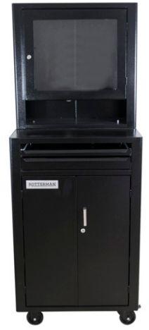 Rack fechado para computador com visor de acrílico