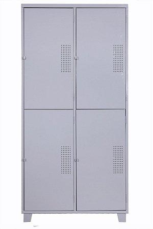 Roupeiro de Aço Insalubre c/ 04 Portas NR 18 e 24.