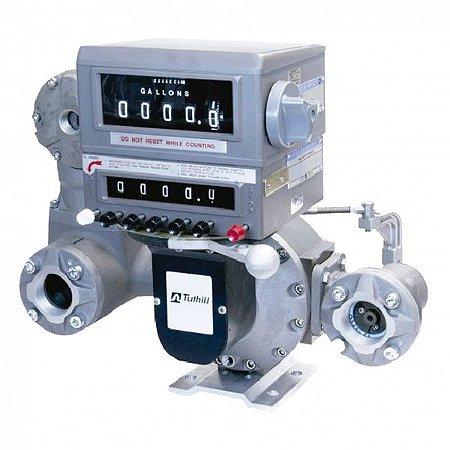 Medidor Mecânico de Alta Vazão para Avgas QAV Querosene com 500LPM 2 Polegadas