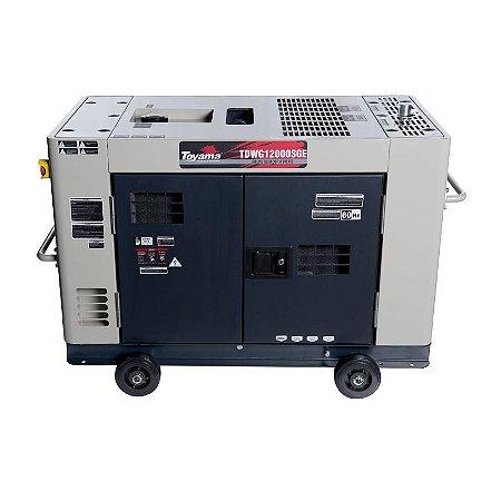 Gerador de energia à diesel 10000W - Monofásico 110/220V- Cabinado Silencioso