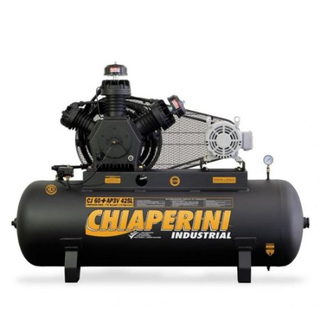 Compressor de Ar Industrial Motor Blindado 60 pés 425 Litros - trifásico