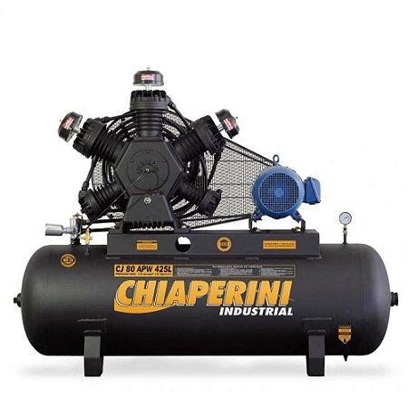 Compressor de Ar Industrial 80 pés 425 Litros - trifásico