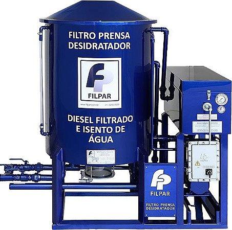 Filtro prensa desidratador Reservatório 500 Litros - 4800 L/H