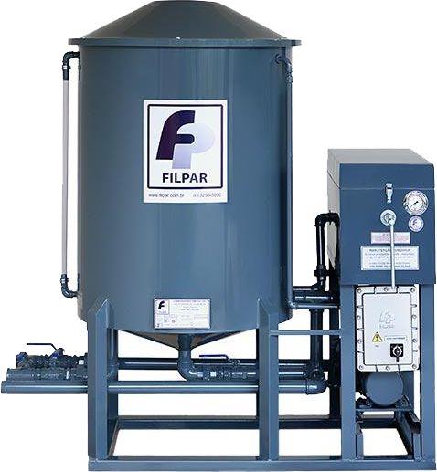Filtro Prensa Vertical - Reservatório 500 Litros - Vazão 11000 L/h