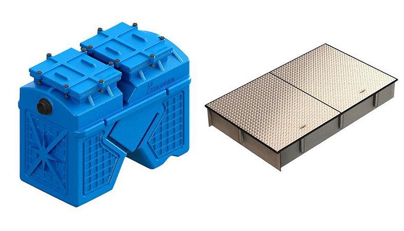 Caixa Separadora de Água e Óleo 2000 Litros + Câmara de Calçada Trafegável - Zeppini