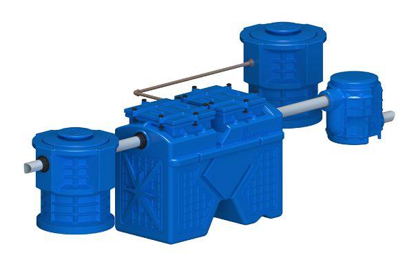 Sistema Separador de Água e Óleo 2000 L/H