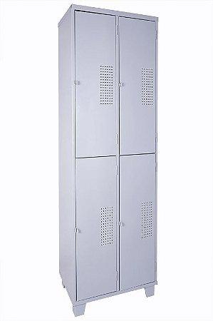 Roupeiro de Aço c/ 04 Portas Grandes Chapa 24
