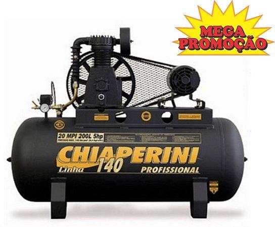 Compressor de Ar 20 Pés 200 Litros Trifásico de Alta Pressão Industrial
