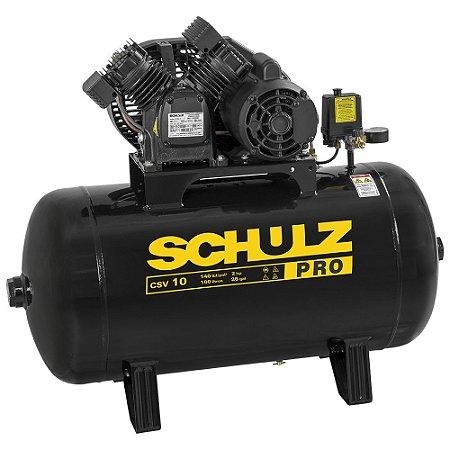 Compressor de Ar Schulz Pro CSV-10/100 - 2HP - 100 litros Trifásico