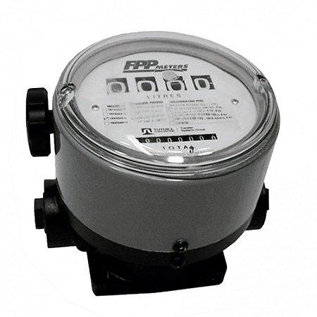 Medidor Mecânico para Óleo Lubrificante Diesel Gasolina Querosene de 4 Dígitos 230LPM 1-1-2 Polegadas NPT