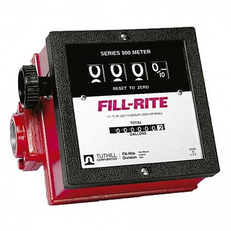 Medidor Mecânico à Prova de Explosão para Diesel Gasolina e Querosene de 4 Dígitos 151LPM 1 Polegada NPT