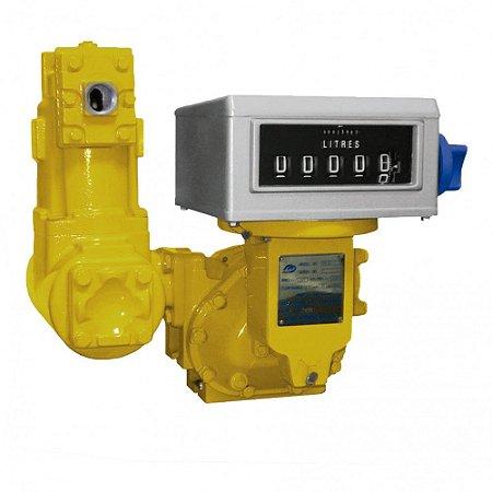 Medidor Mecânico Registrador de Alta Vazão para Diesel Gasolina e Querosene 05 Dígitos 500LPM 2 Polegadas