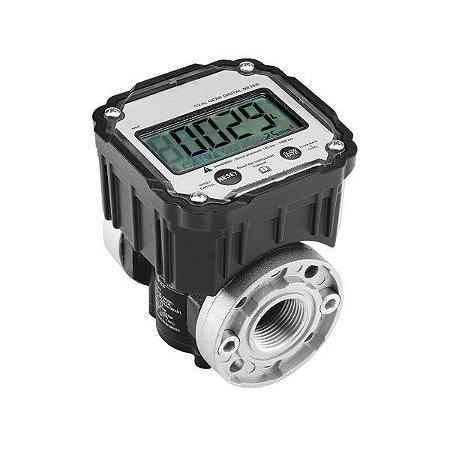 Medidor Digital para Diesel com 5 Dígitos e Vazão de 100LPM 1 Polegada BSP