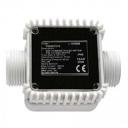 Medidor de Pulso para Arla 32 120LPM Entrada e saída 1 Polegada BSP